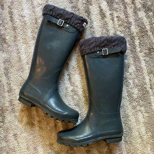 Hunter rain Boots w/inner liners* women's 6 (fit like 6.5/7)* gently worn for Sale in Spokane, WA