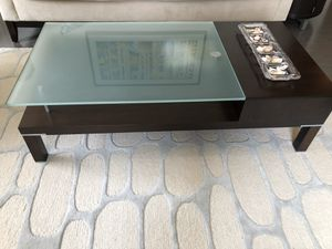 Modern Glass Top Coffee Table & Accent Table w/storage for Sale in Boston, MA