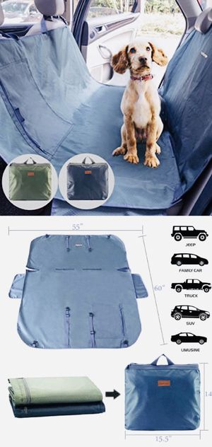 New PetBemo universal car seat dog cat pet cover waterproof stain proof machine washable soil resistant scratch proof hammock nonslip for Sale in El Monte, CA