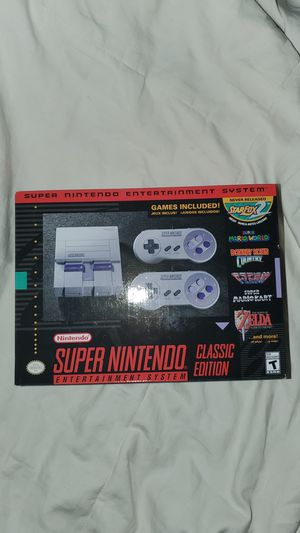 New in box never been opened Super Nintendo classic edition for Sale in Santa Fe, NM