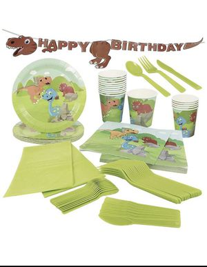 Brand new dinosaur birthday party supplies (pick up only) for Sale in Springfield, VA