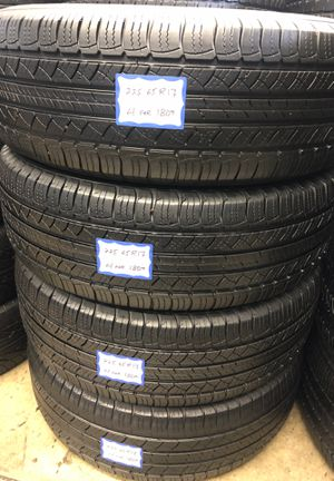 🦚SET OF 4 USED TIRES🦚 225/65/17 MICHELIN •INSTALL/BALANCE INCLUDED• for Sale in Long Beach, CA