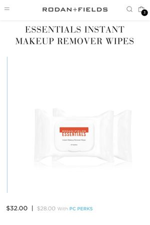 RODAN AND FIELD ESSENTIALS INSTANT MAKEUP REMOVER WIPES for Sale in El Cajon, CA