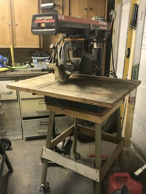 "Craftsman 3hp 10"" Radial Arm Saw Contractors Series for Sale in Austin, TX"