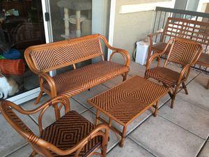 4 Piece Wicker Patio Set for Sale in Scottsdale, AZ