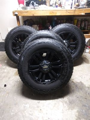New 18inch MB rims and tires LT275/70R18 Ford 6 lugnuts for Sale in Saginaw, TX