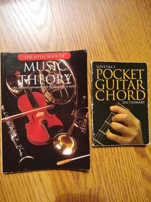 GUITAR POCKET CHORDS + LITTLE BOOK OF MUSIC THEORY for Sale in Glen Ellyn, IL