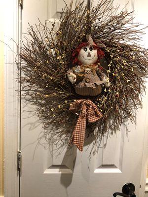 Raggedy Ann Wreath for Sale in Suffolk, VA