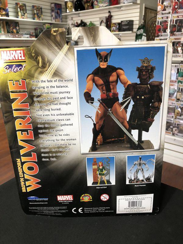 "Marvel Select Brown Uniform Wolverine Diamond Select Marvel 7"" inch"