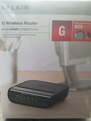 Belkin F5D723404 Wireless G Router v4 4-Port with AC Plug for Sale in Bronx, NY