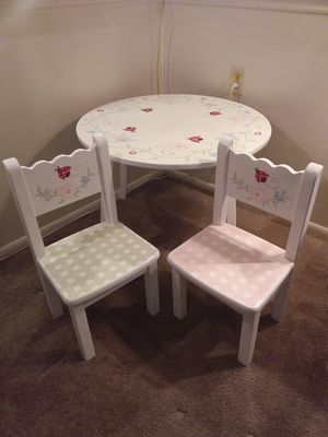 Child's beautiful hand painted table and 2 chairs for Sale in Salt Lake City, UT