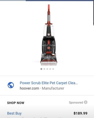 Hoover scrubber for various rugs shampooer for Sale in Irwindale, CA
