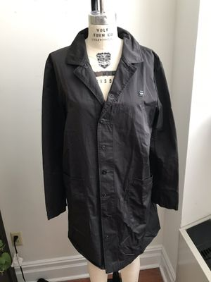 Used, G-Star RAW Black Men's navy-style rain Trench Coat. Size XL. Good Condition. This is a limited edition men's extra large rain trench. It's styled aft for Sale for sale  Queens, NY