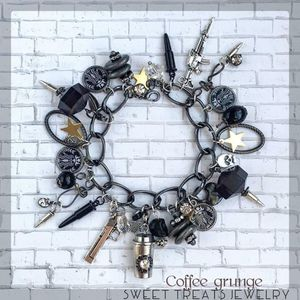 Charm Bracelet Coffee Grunge Handmade for Sale in Tualatin, OR