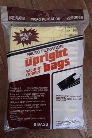 Sears Kenmore Upright Vacuum Bags 5068 * 8pk for Sale in Martinsburg, WV