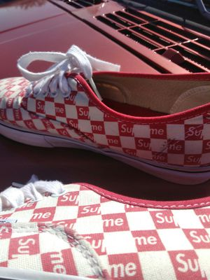 Supreme vans . Very rare size 10. Normal wear. for Sale in Stone Mountain, GA