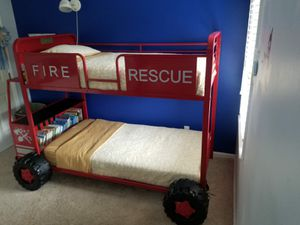 Firetruck Bunk Bed - Twin Size for Sale in Monroe, NC