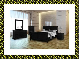 11pc black bedroom set free delivery for Sale in Crofton, MD