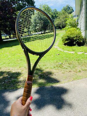 """Vintage Prince GRAPHITE """"Woodie"""" 110 Wood Tennis Racket, 4-1/2"""" Grip for Sale in Darien, CT"""