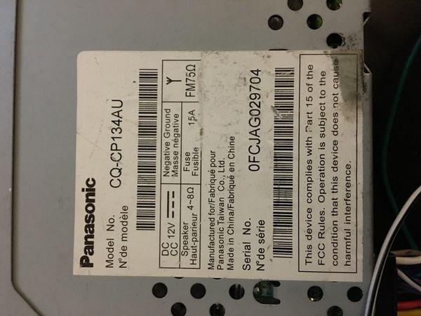 Admirable Panasonic Car Audio Cq Cp134Au For Sale In Aurora Il Offerup Wiring Digital Resources Apanbouhousnl