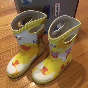 Kids Hunter Boots X Peppa Pig Size US 8 for Sale in Oak Lawn, IL