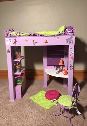American Girl Doll Loft bed and desk... for Sale in Park City, UT