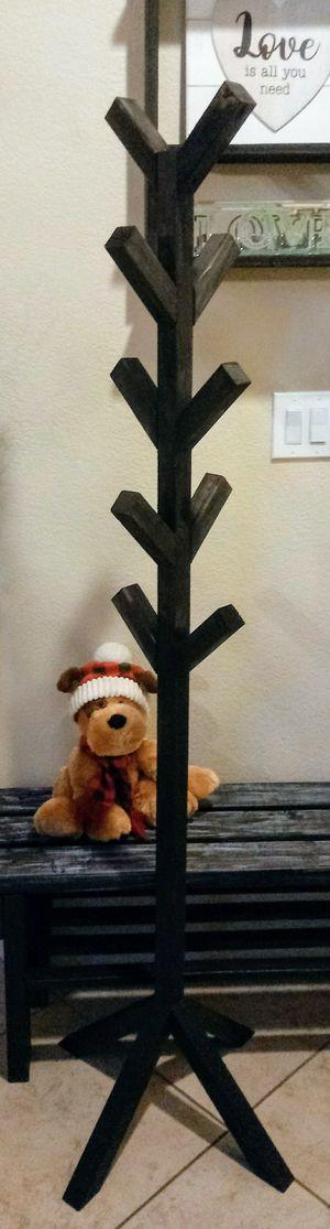"65""H X 20""W X 20""D 🌲Wood Hat/Coat/Bag/Hanging Rack (10 Hooks) ::: Rustic Black for Sale in Las Vegas, NV"