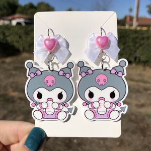 Baby Kuromi Earrings With Bows for Sale in Escondido, CA