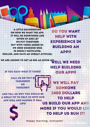 Help Us Build Our App!! for Sale in Escondido, CA