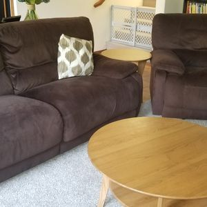 Recliner Couch, Chair, Coffee Table And Side Table for Sale in Puyallup, WA