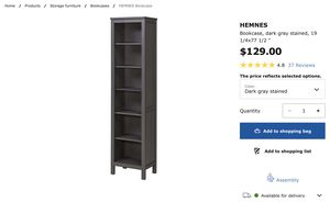 IKEA Hemnes bookcases (2 cases) for Sale in Los Angeles, CA