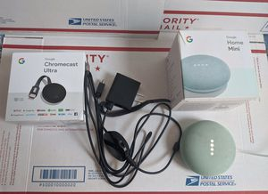 Google Chromecast Ultra + Google Home Mini for Sale in Chicago, IL