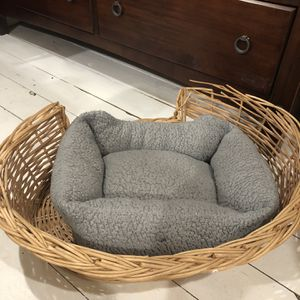 Wicker gray pet bed. for Sale in Lancaster, NY