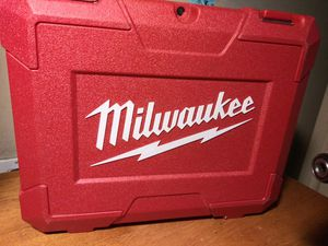 New milwaukee hard case for impac and charger and 2 battery s for Sale in Fontana, CA