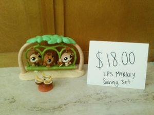 Littlest pet shop Monkey swing set for Sale in Tempe, AZ