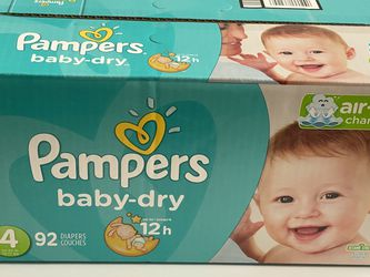 Pampers Baby Dry 92 Count X2 Size 4 22-37lbs New for Sale in Chino,  CA