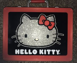 Hello kitty makeup vanity Case with Handles By Added Extras Super Rare! for Sale in Santa Cruz, CA