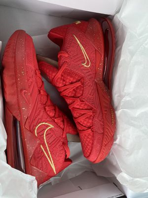 Nike Lebron 17 low PH University Red/Metalic Gold for Sale in Columbia, SC