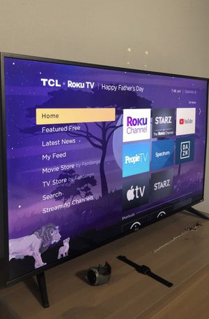 "Like new. 50"" TCL 5 Series Smart Roku 4K HDR flat screen tv. $350 or best offer. Must be gone today. Pick up ready near usf. for Sale in Tampa, FL"