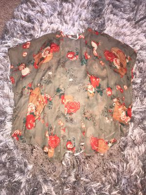 Floral Cardigan with Fringes for Sale in Edison, NJ