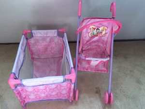 Princess stroller and pack n play for dolls for Sale, used for sale  Jackson, NJ