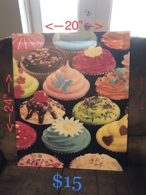 Cupcake themed decor for Sale in Lakeland, FL