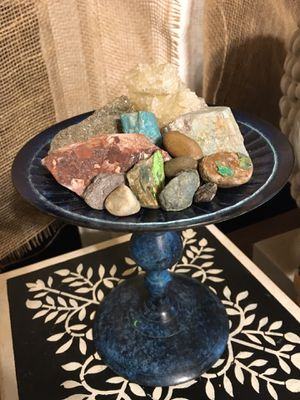 Candle Holder w Real Stones for Sale in Vancouver, WA
