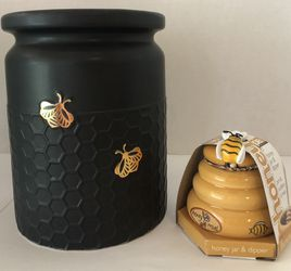 🙋‍♀️ Honey Bee Utensil Holder And Honey Pot for Sale in Hollywood,  FL