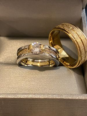 Beautiful Matching Ring Set— 18K Gold plated Rings for Sale in Dallas, TX