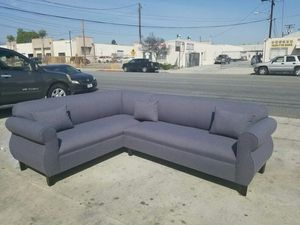 NEW 7X9FT DARK CHARCOAL FABRIC SECTIONAL COUCHES for Sale in South El Monte, CA