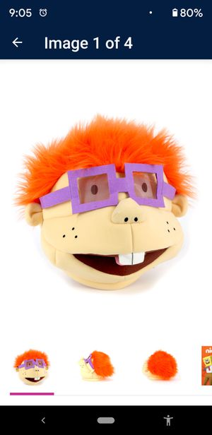 NEW*Rugrats Chuckie halloween costume mask for Sale in Dana Point, CA