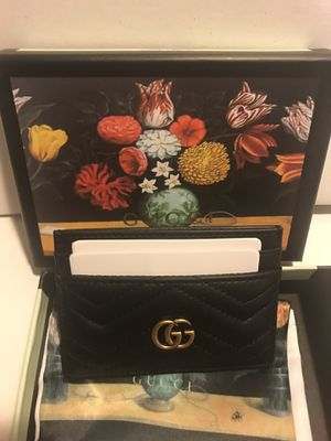Gucci black leather card holder wallet for Sale in Queens, NY