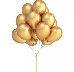 One dozen Gold Metallic balloons with helium for Sale in Baldwin Park, CA