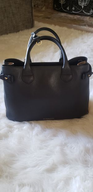 Burberry Bags - The Medium Banner Black Leather Bag for Sale in Whittier, CA